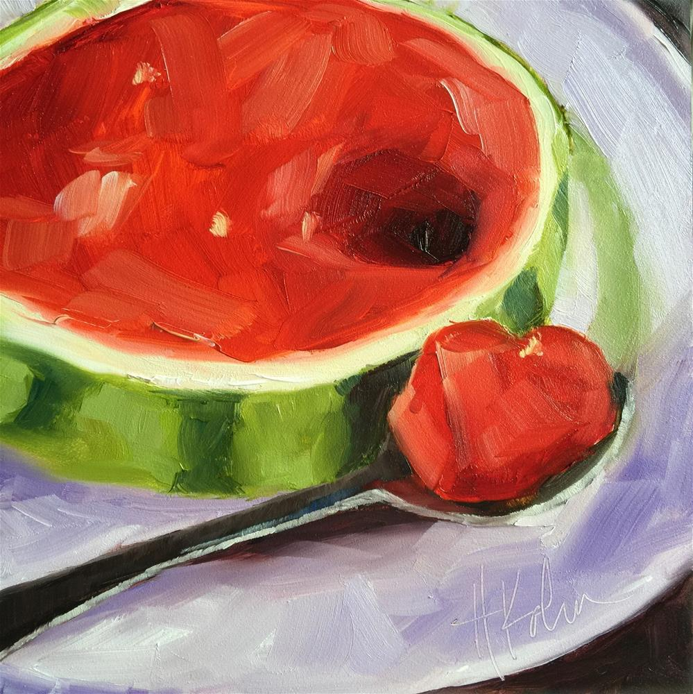 """Mini Melon 2"" original fine art by Hallie Kohn"