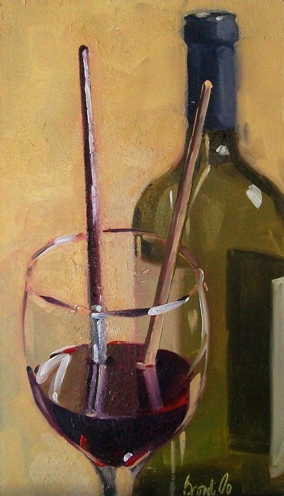 """wino 20"" original fine art by Brandi Bowman"
