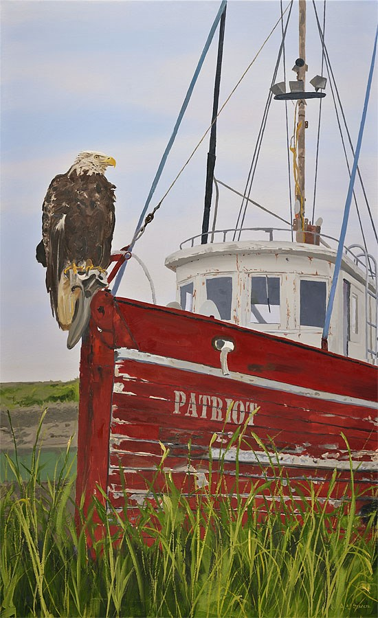 """The Patriot"" original fine art by Andy Sewell"