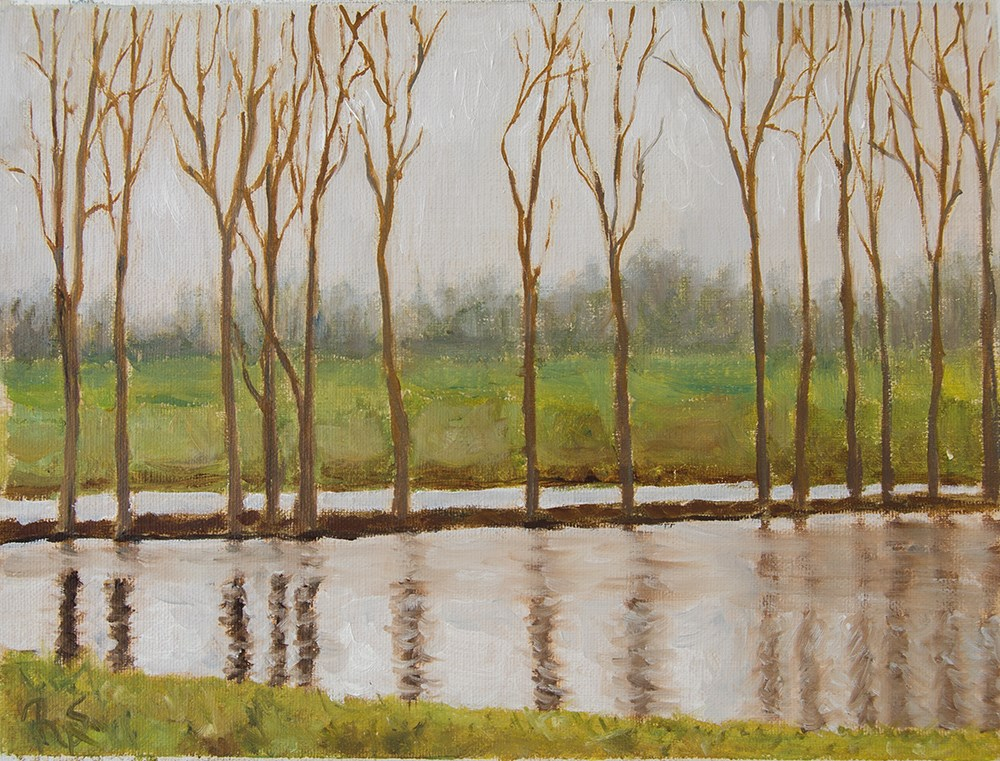 """1. Tree Line"" original fine art by Rachel Steely"