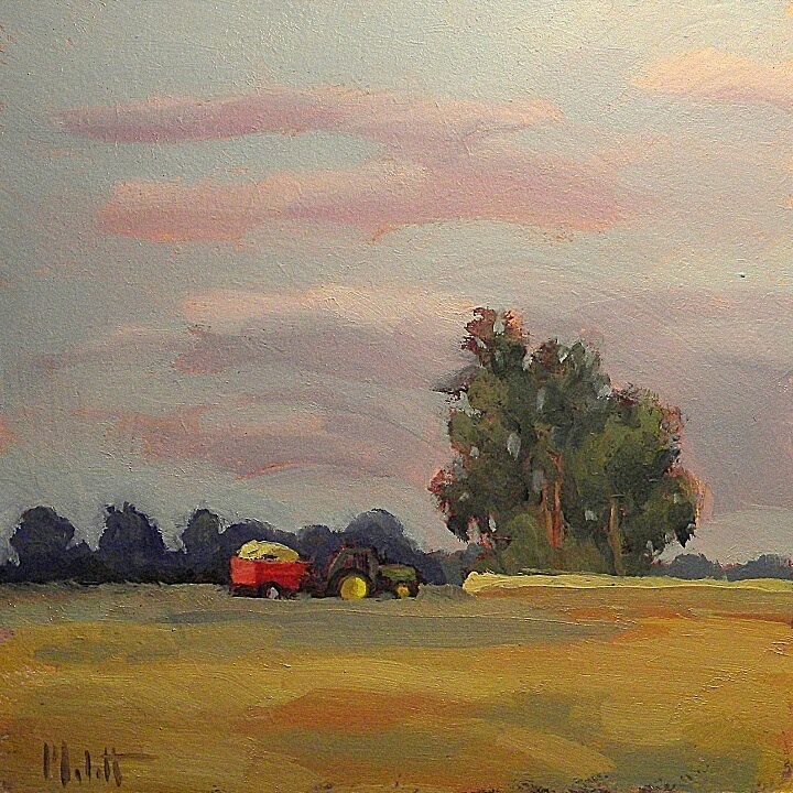 """To Grandma's House We Go Original Farm Oil Painting"" original fine art by Heidi Malott"