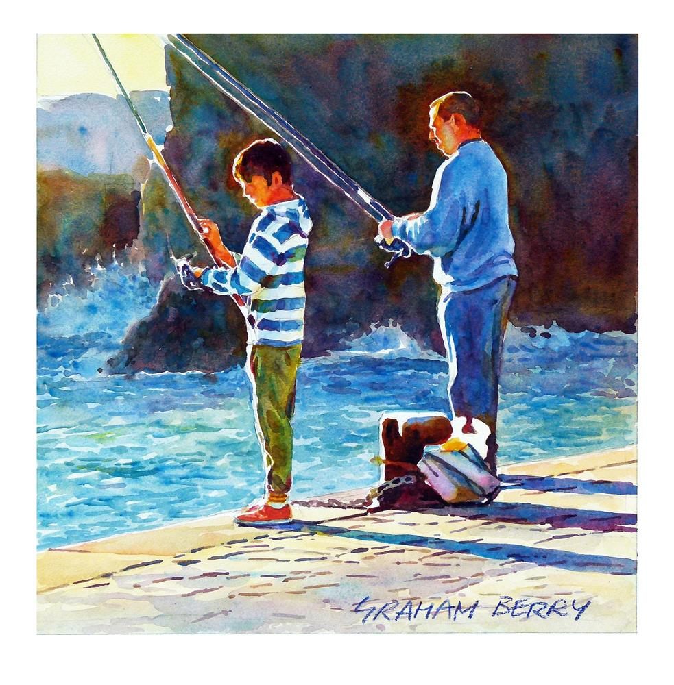 """Early morning fishing."" original fine art by Graham Berry"