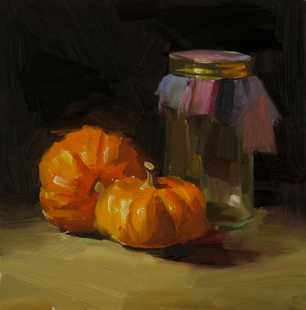 """""""Autumn Glow"""" original fine art by Qiang Huang"""
