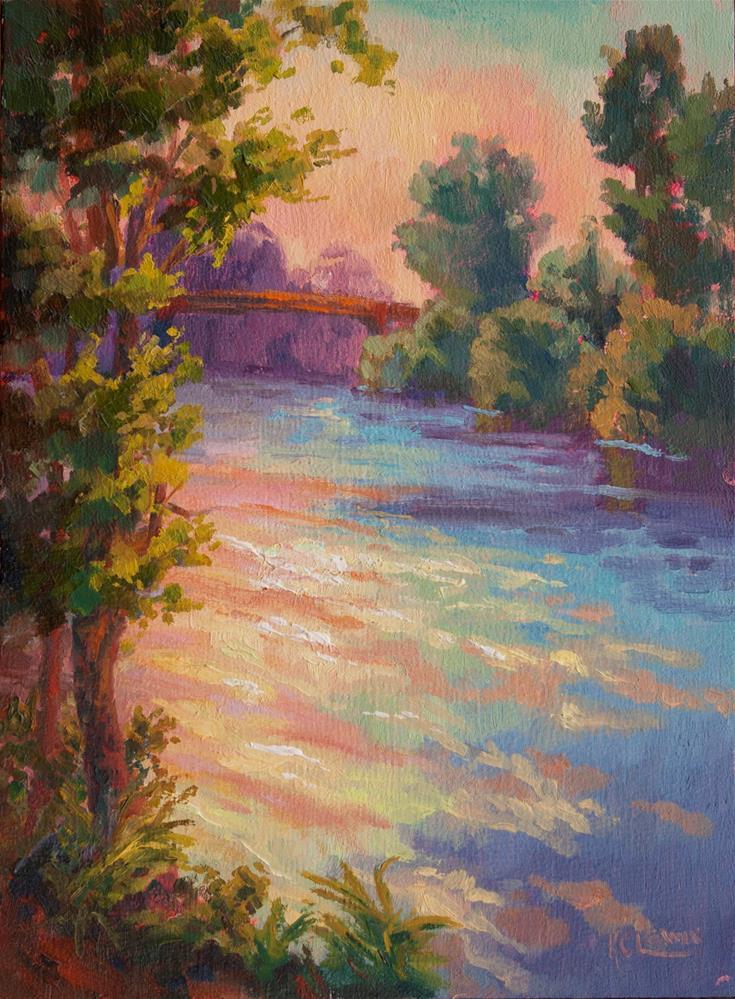"""WILLAMETTE SUMMER DREAMS"" original fine art by Karen E Lewis"
