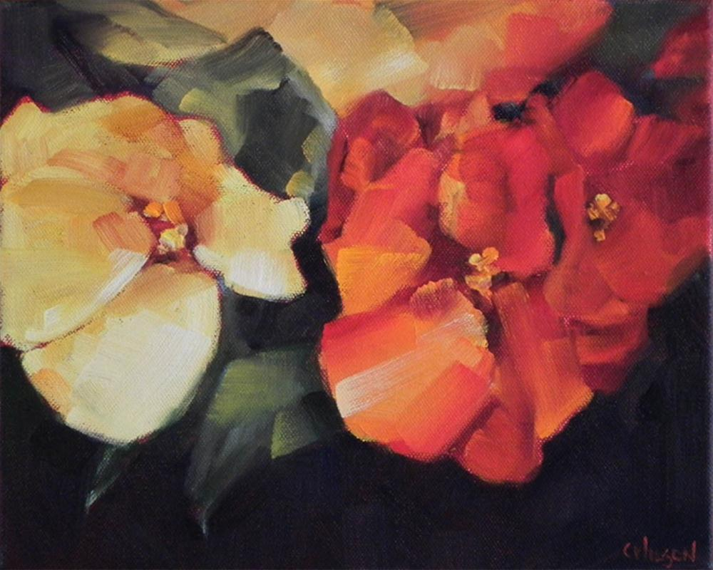 """Red & Yellow Begonias"" original fine art by Cheryl Wilson"