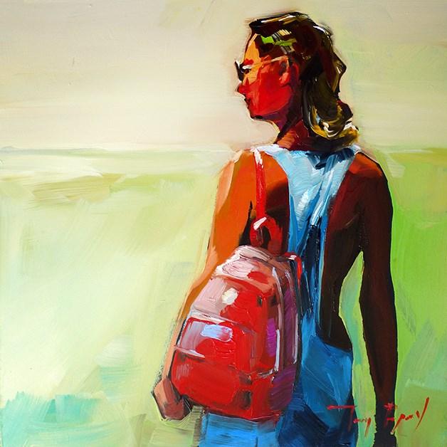 """Zum Strand"" original fine art by Jurij Frey"