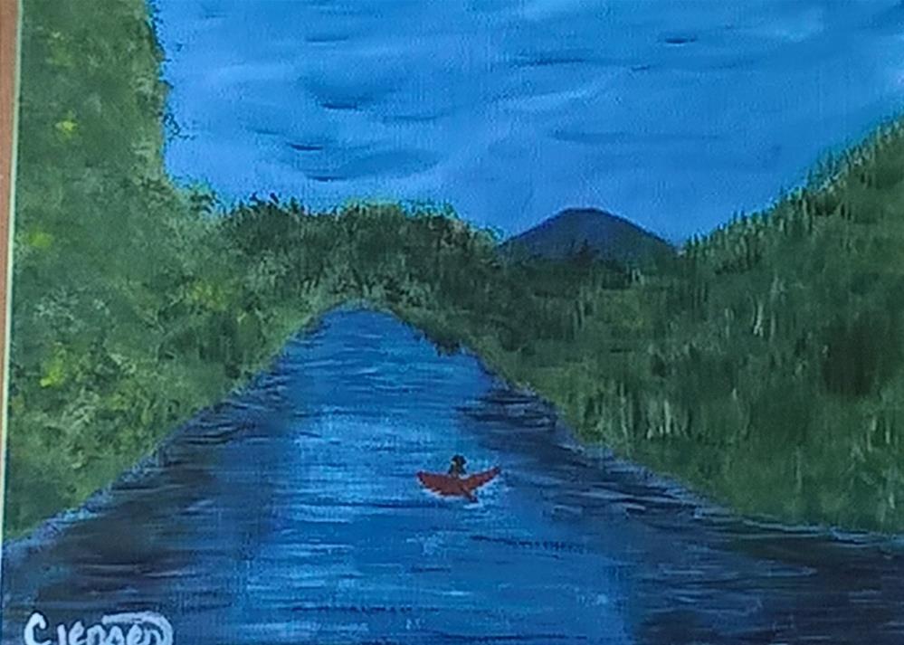 """""""The Mckenzie River"""" original fine art by Cindy Jensen"""