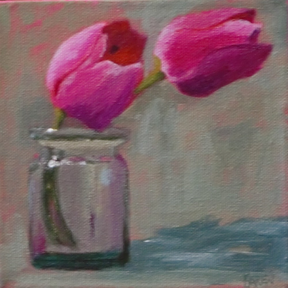 """Tulips"" original fine art by karen richardson"