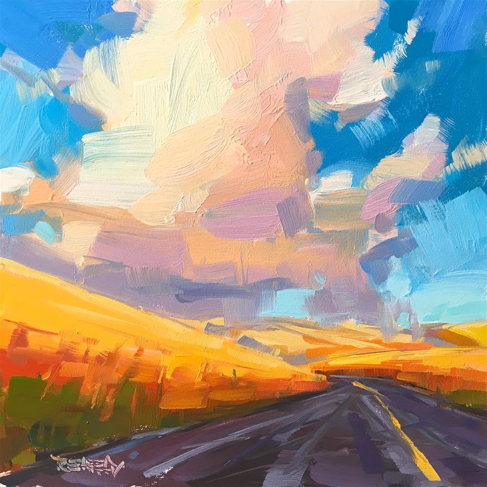 """Taking The Backroad"" original fine art by Cathleen Rehfeld"
