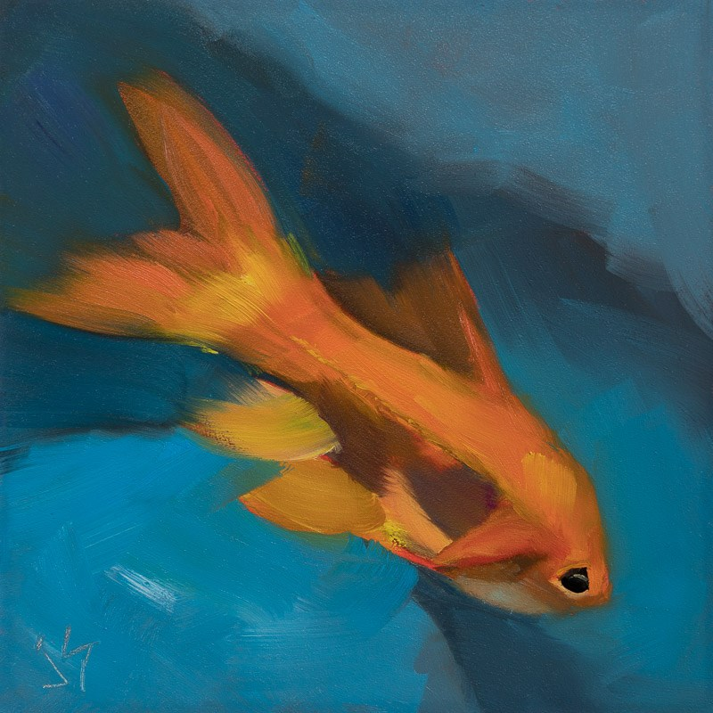 """Go Fish"" original fine art by Johnna Schelling"