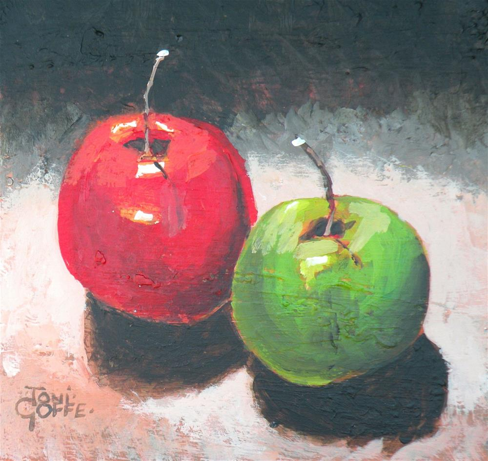"""The Red and The Green"" original fine art by Toni Goffe"