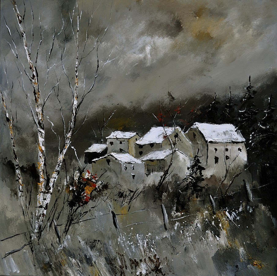 """winter 8841"" original fine art by Pol Ledent"