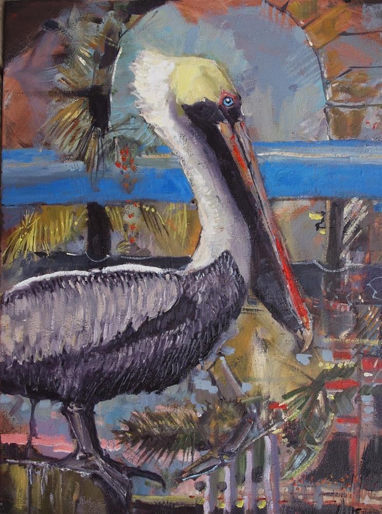 """Epic Pelican"" original fine art by Rick Nilson"