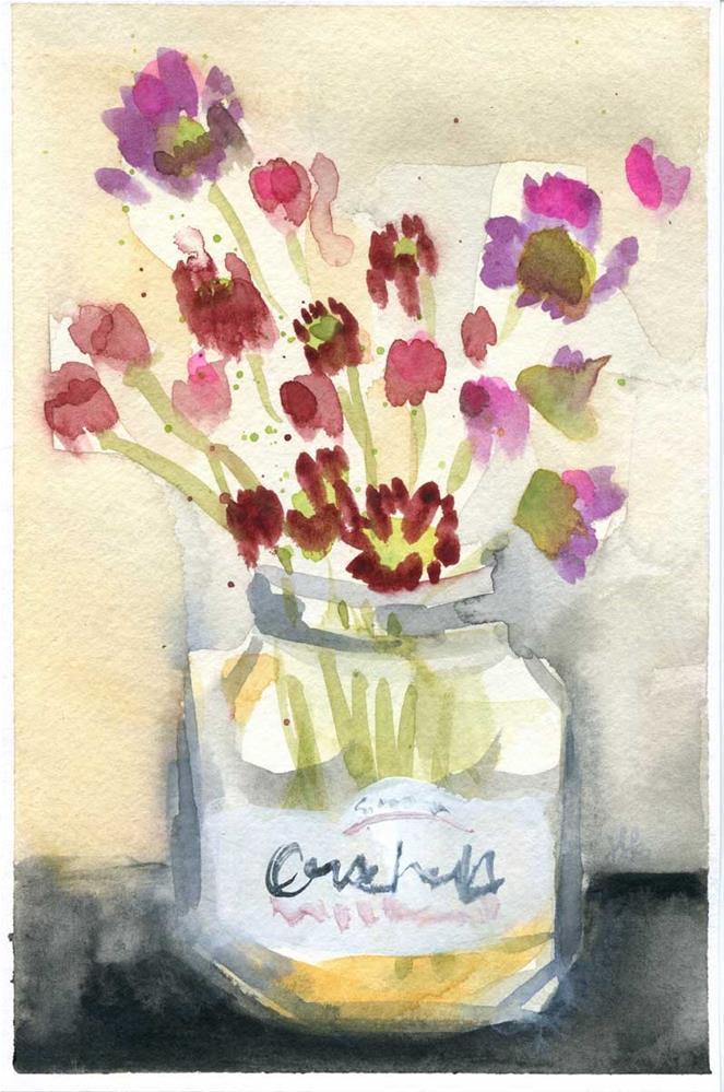 """""""Garden In A Jar"""" original fine art by Heather Bennett"""