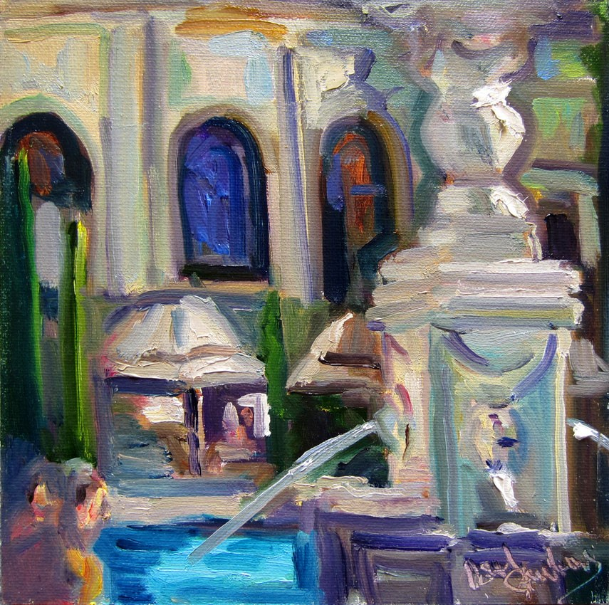 """Bellagio Fountain"" original fine art by Carol Steinberg"