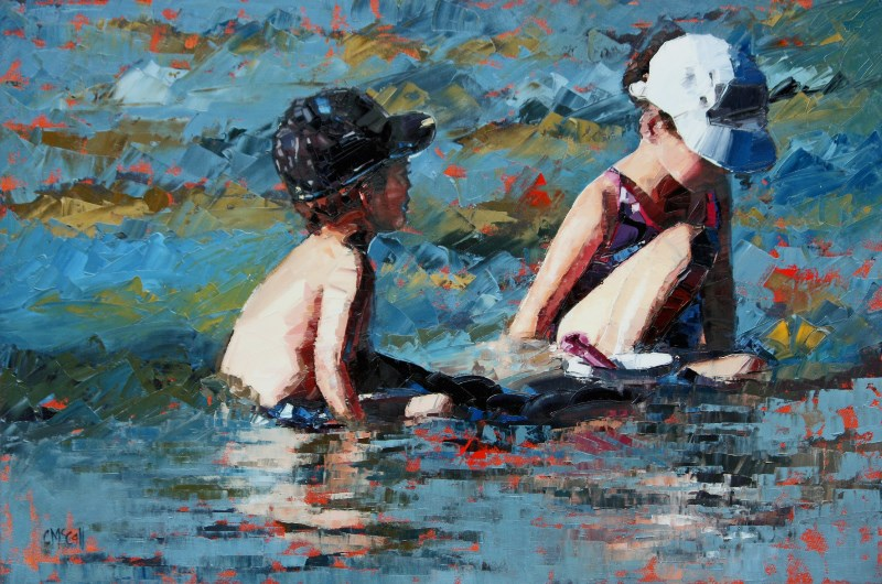 """Playing In The Shallows III"" original fine art by Claire McCall"