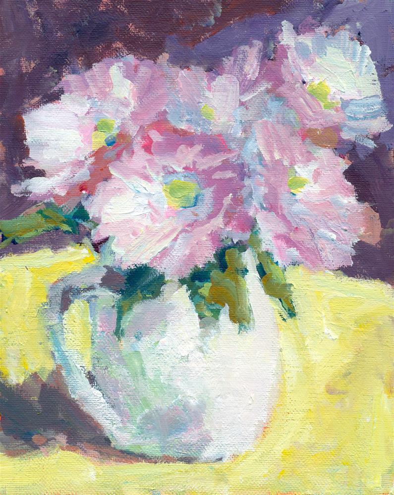 """""""bouquet pink"""" original fine art by Shelley Garries"""