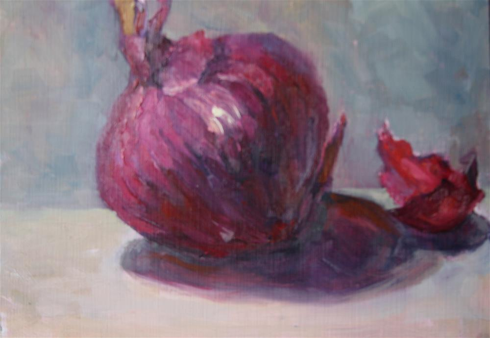 """Red Onion"" original fine art by Carol Josefiak"