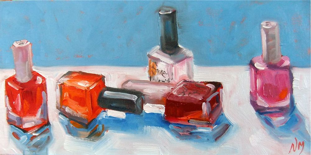 """spin the bottle"" original fine art by Nora MacPhail"