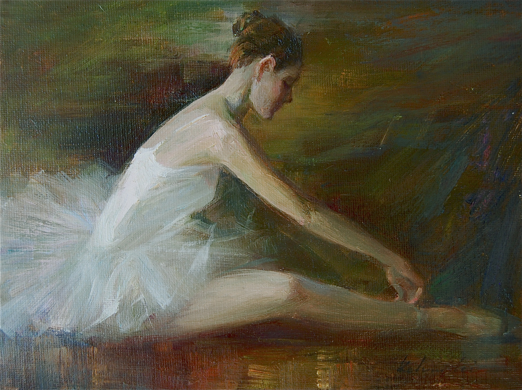 """Ballerina (09)"" original fine art by Kelvin Lei"