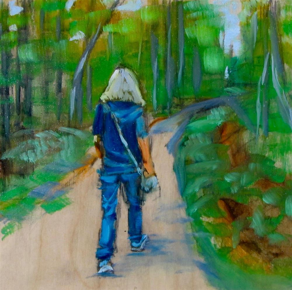 """The Long Journey - 30 in 30 Challenge #2"" original fine art by Christine Holzschuh"