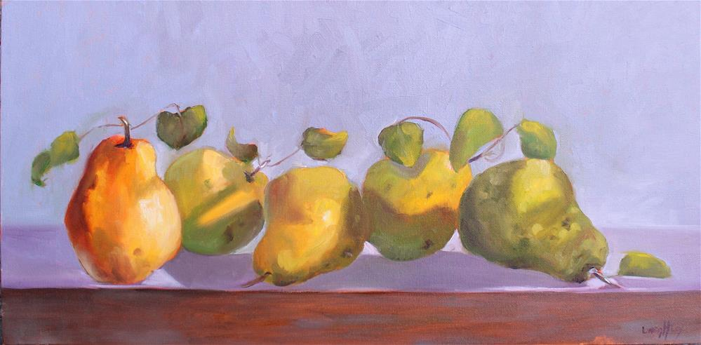 """Pearadise Lost, Pear oil Painting"" original fine art by Linda McCoy"
