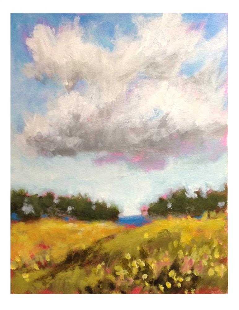 """Little White Cloud"" original fine art by Suzanne Woodward"