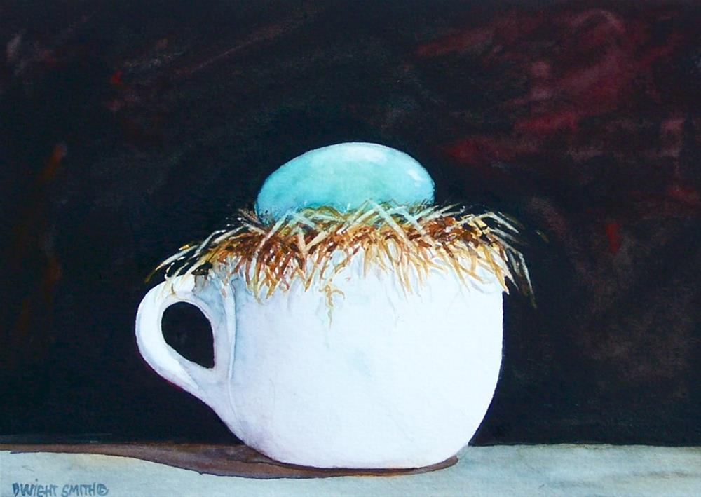 """ A CUP OF JOE "" original fine art by Dwight Smith"