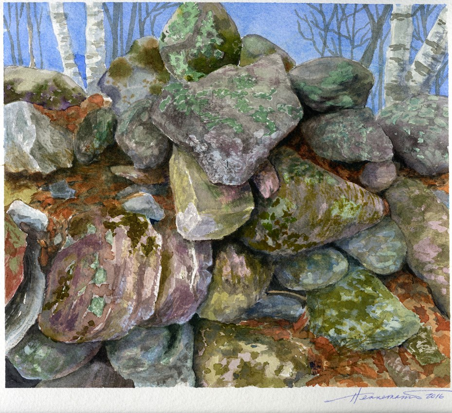 """Rock Wall at High Lonesome"" original fine art by Eileen Hennemann"