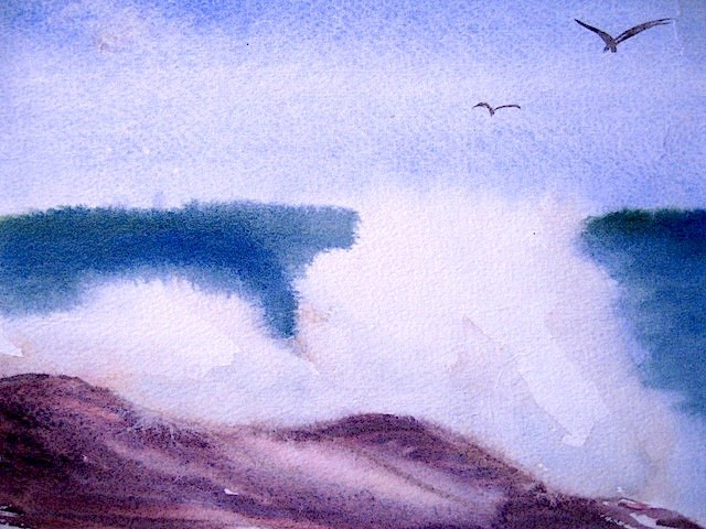 """Surf, study ca. 1968"" original fine art by Judith Freeman Clark"