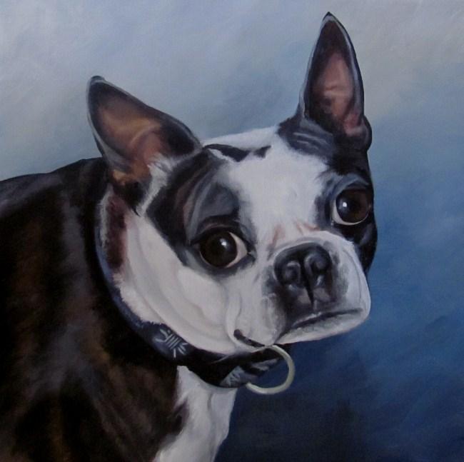 """Custom Pet Portrait: Justice"" original fine art by ~ces~ Christine E. S. Code"