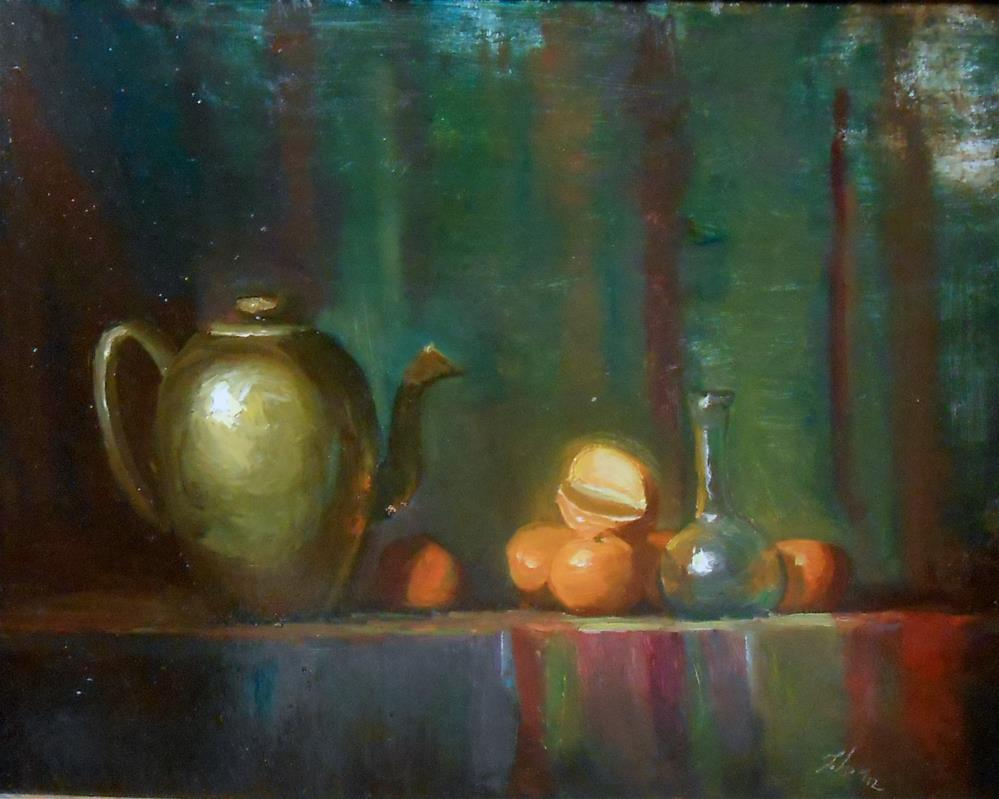 """Oranges and Egyptian Glass"" original fine art by Kelli Folsom"