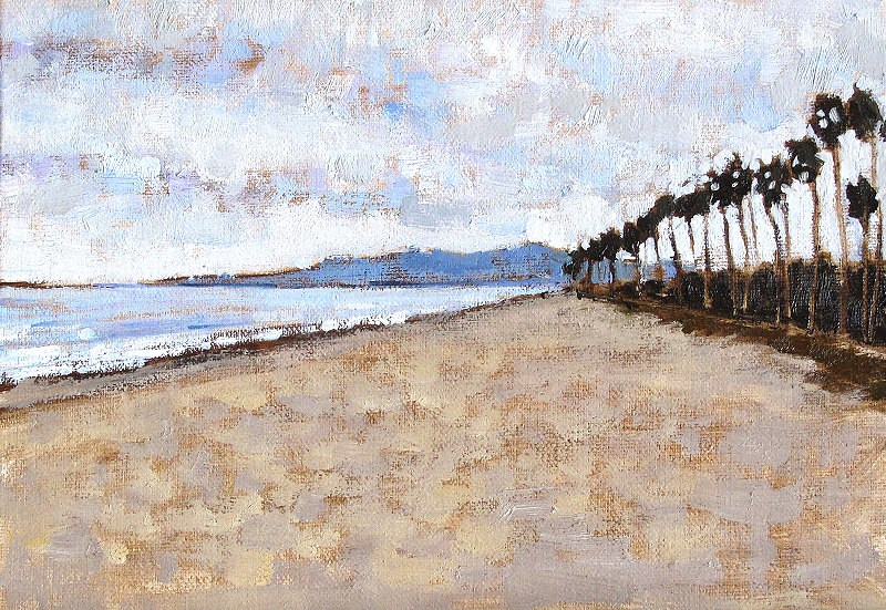 """Santa Barbara Beach Clouds"" original fine art by Kevin Inman"