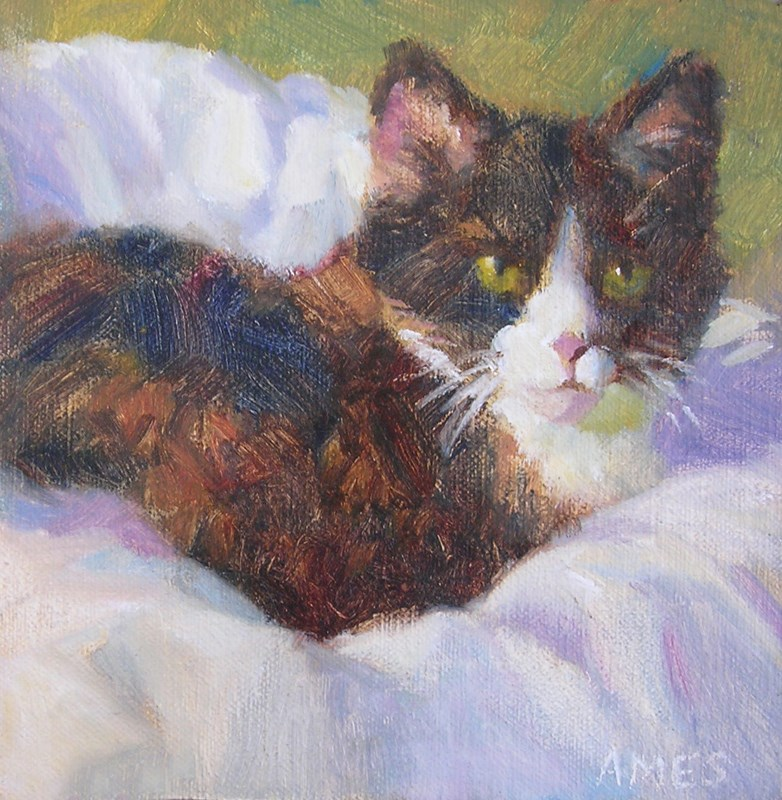 """Sweet Calculating Cally"" original fine art by Debra Ames"