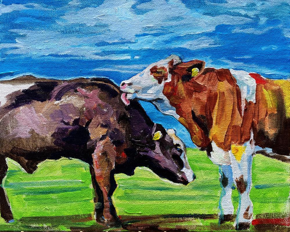 """""""Tastes Like Chicken"""" original fine art by Lauren Kuhn"""