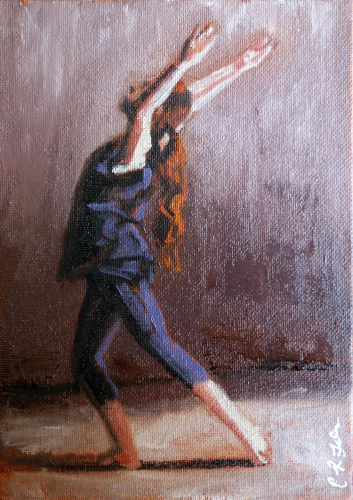 """Dance"" original fine art by Chrystale Files"