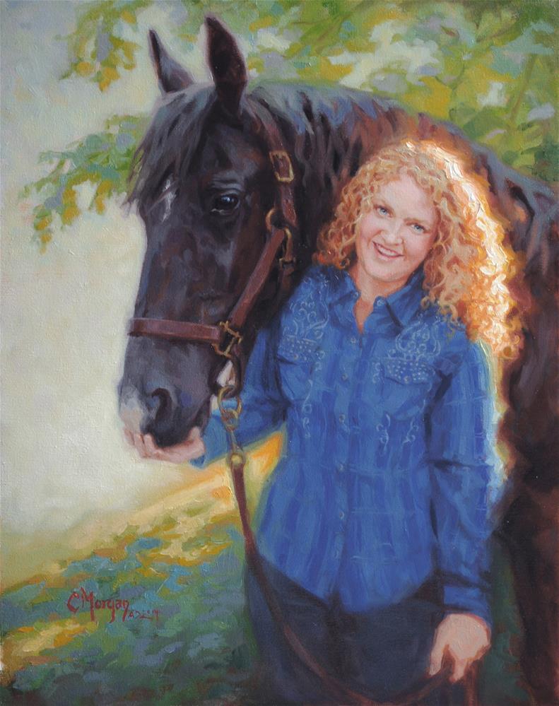 """""""Elizabeth and Snip"""" original fine art by Cecile W. Morgan"""