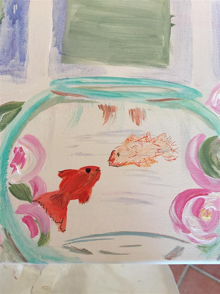 """One Fish Two Fish"" original fine art by Yvonne Snead"