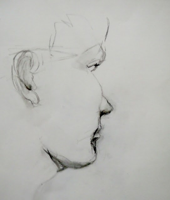 """profile"" original fine art by Mitsuru Cope"
