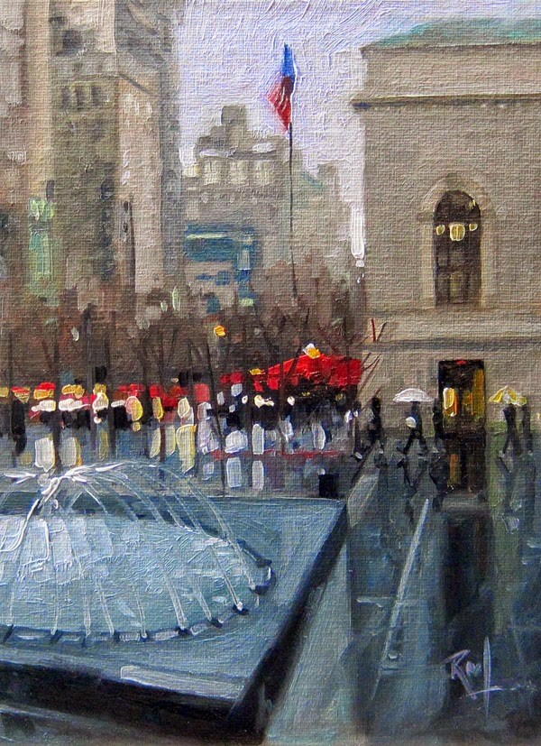 """No 771 Leaving the Met."" original fine art by Robin J Mitchell"