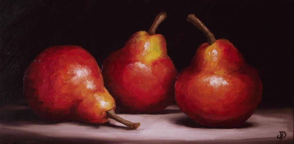 """Red Williams Pears"" original fine art by Jane Palmer"