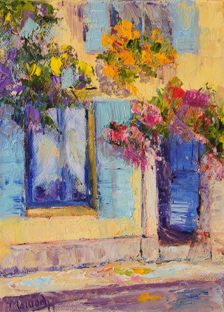 """Yellow House Arles oil painting"" original fine art by Marion Hedger"