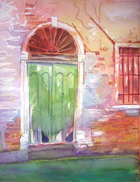 """""""Favorite Venetian Doorway"""" original fine art by Christiane Kingsley"""