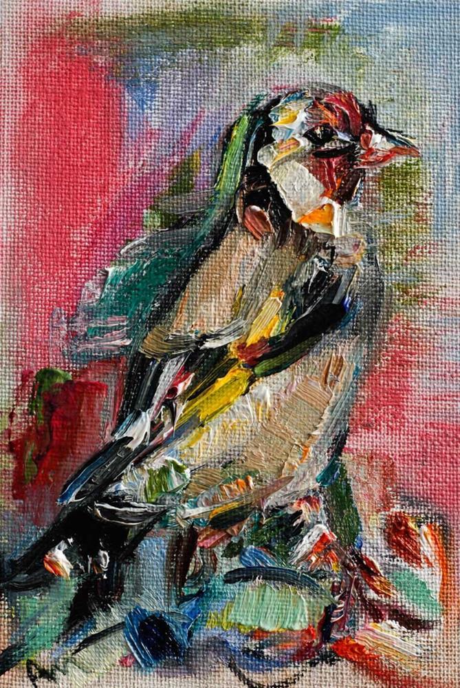 """Goldfinch"" original fine art by Anna  Fine Art"