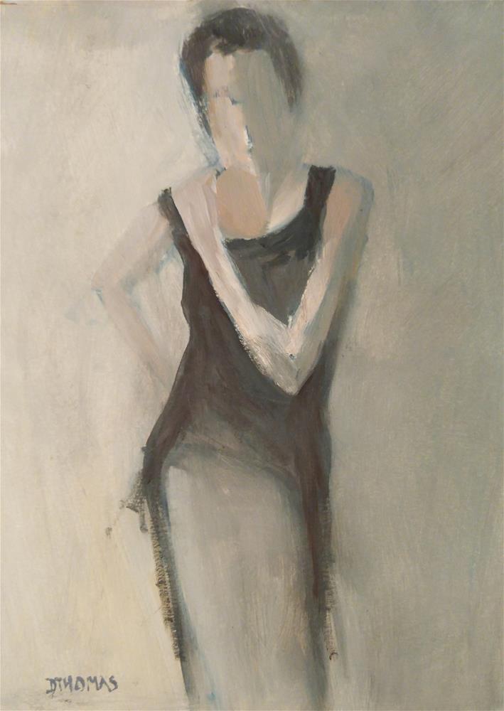"""Woman in Black"" original fine art by Donna Thomas"