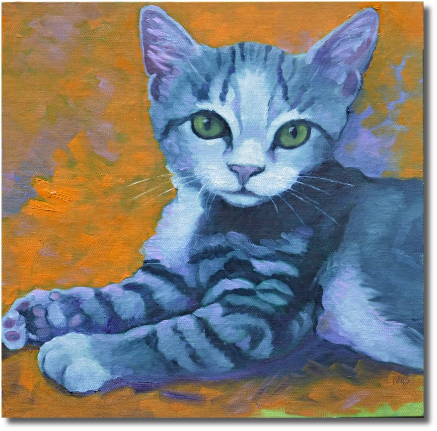 """Young Tabby"" original fine art by Rk Ives"