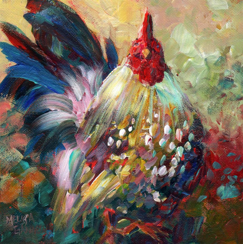 """""""Fine & Feathered"""" original fine art by Melissa Gannon"""