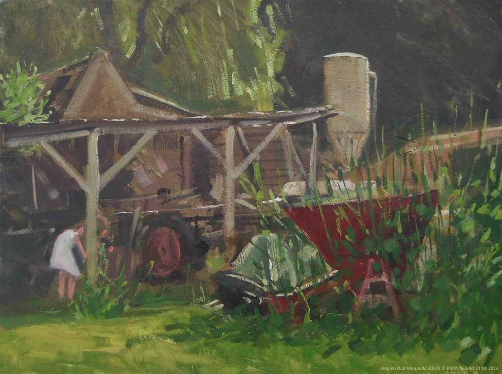 """Farmers clutter Hummelo, The Netherlands"" original fine art by René PleinAir"