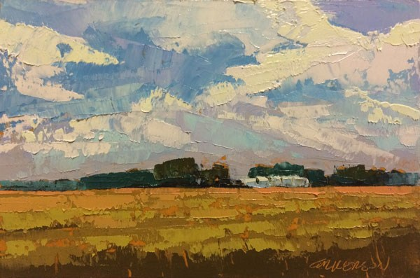 """""""Wheat Fields, Early Summer"""" original fine art by Mary Gilkerson"""