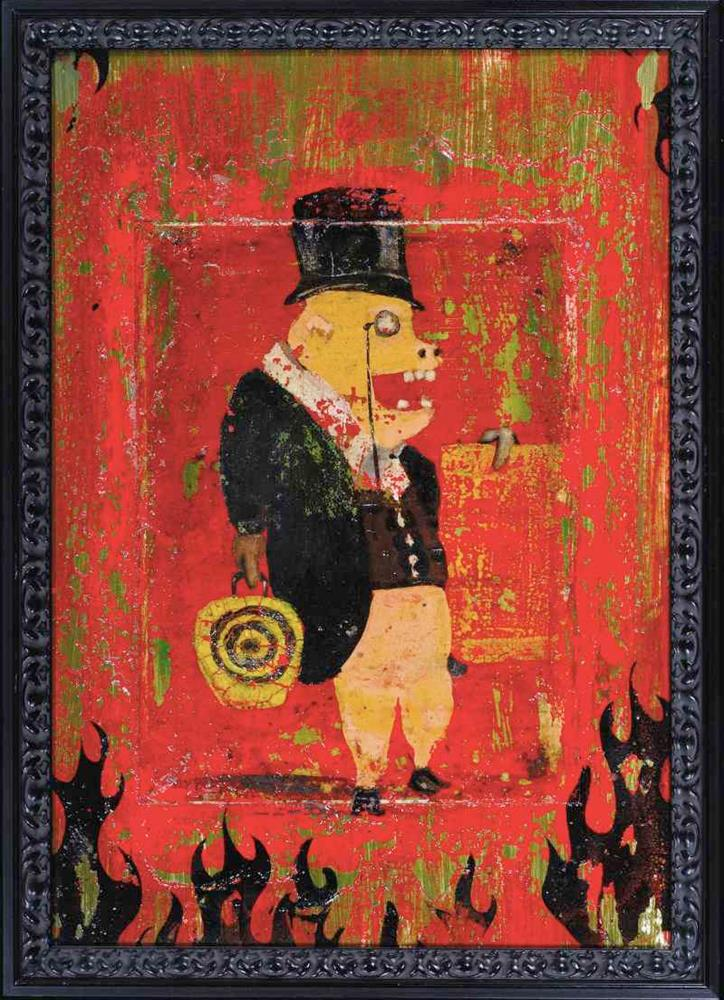 """Bourgeois Pig"" original fine art by Matthew Hilbish"